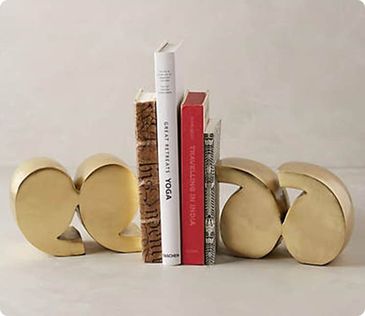 Anthropologie Quotation Mark Bookends