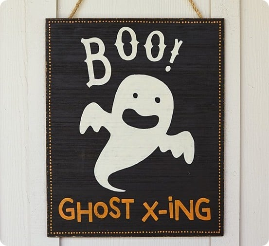 BOO Hanging Sign from Pottery Barn Kids