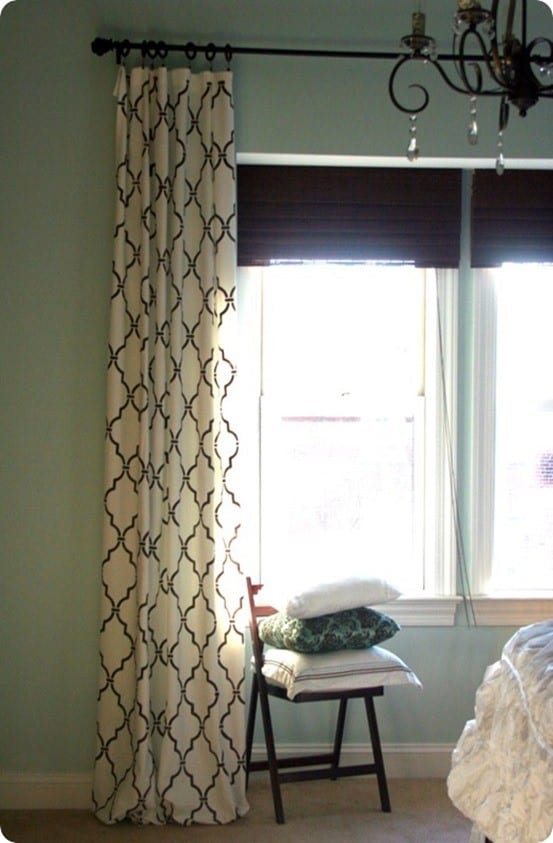 DIY Home Decor | Ballard Knock Off Trellis Stenciled Curtains