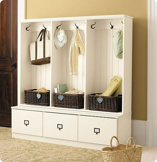Ikea hack storage system for Mudroom locker design plans
