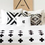 Black and White Plus Sign Bedding