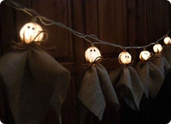 Burlap Ghost Light Strand