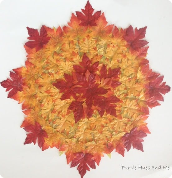DIY Fall Decorations ~ Layered Leaves Placemat