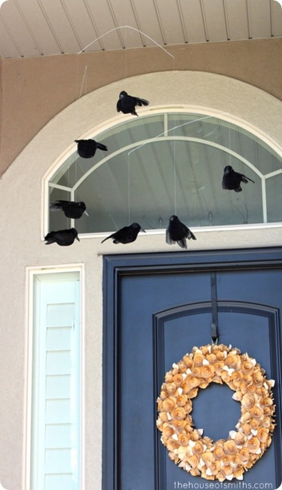 DIY Halloween Decor ~ Crow Mobile