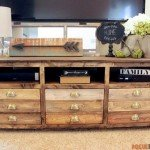 Printmaker's TV Stand with TONS of Storage