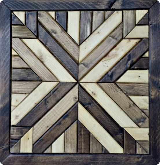 DIY Wall Art | Pottery Barn Knock Off Quilt Square Art ~ Knock off this $400 Pottery Barn wall art for $40!