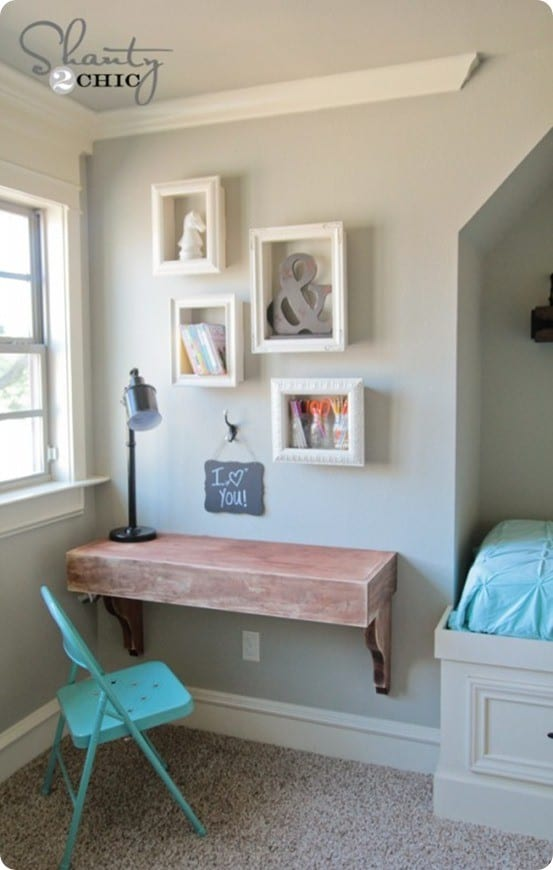 Turn an Old Picture Frame into a Wall Shelf