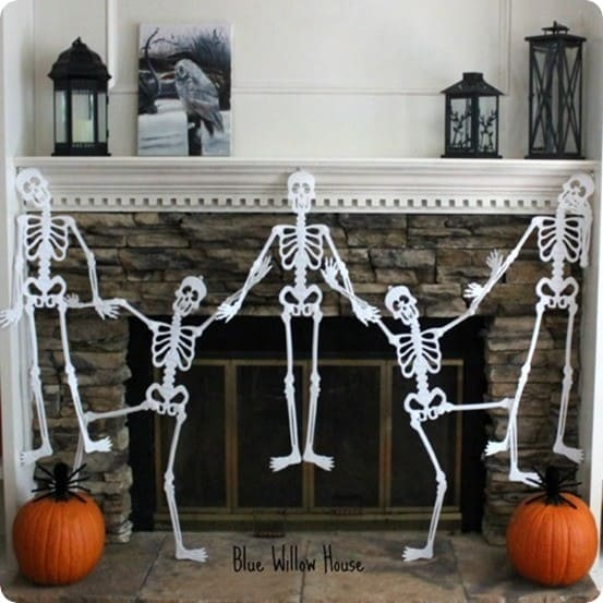 Dancing Skeleton Garland