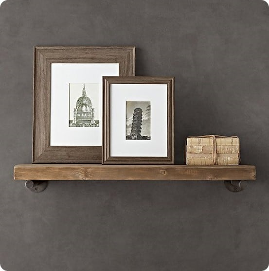 Distressed Pine Shelf from Restoration Hardware