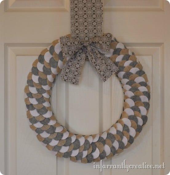 Felt Scalloped Wreath