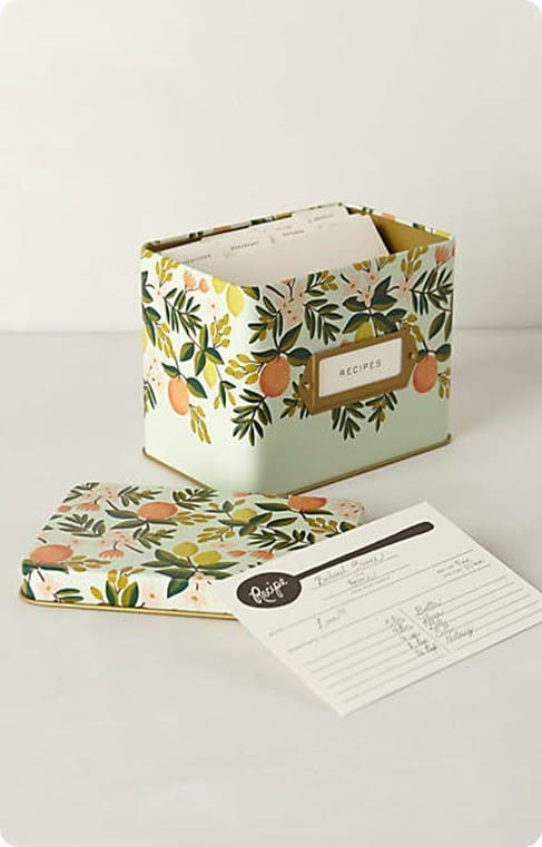 Grand Dame Recipe Tin from Anthropologie