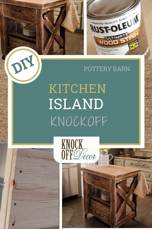 Rustic Wood Kitchen Island With Casters Knockoffdecor Com