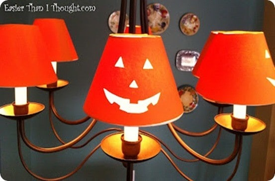 Jack O Lantern Chandelier Shade Covers