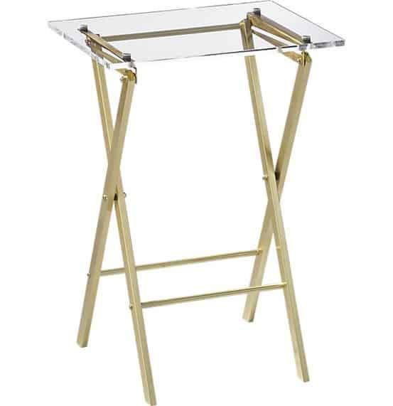 Novo Acrylic Folding Table from CB2
