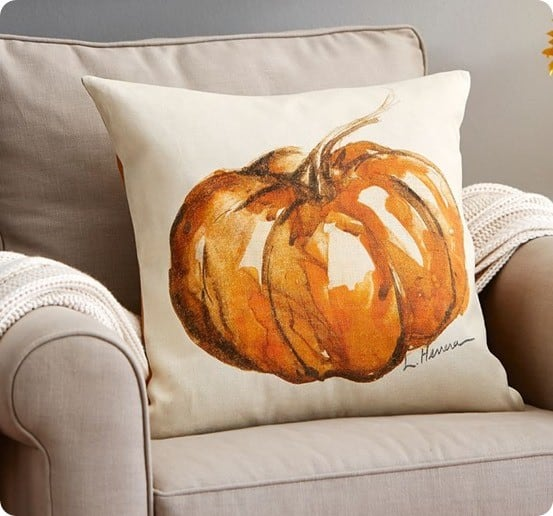 Painted Pumpkin Patch Pillow Cover from Pottery Barn