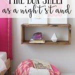 Pine Box Shelf as Nightstand