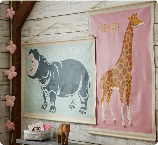 Pottery Barn Kids Painted Animal Posters
