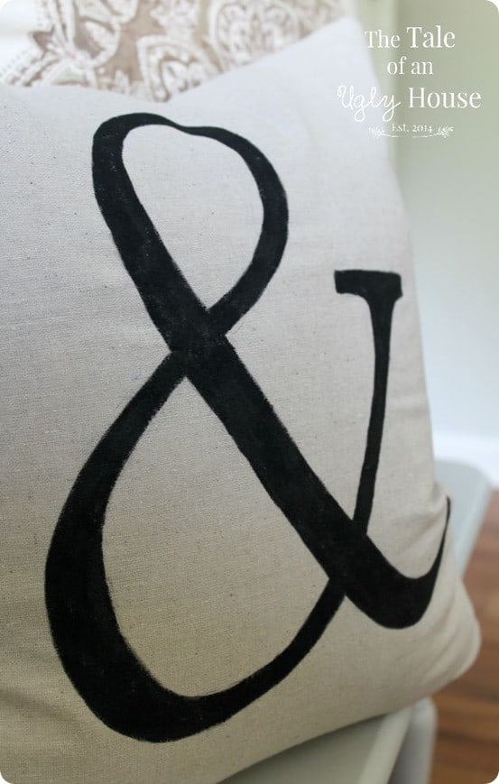 Pottery Barn Knock Off Ampersand Pillow