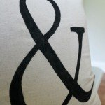 Painted Ampersand Pillow