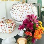 Colorful Stone and Grout Pumpkins
