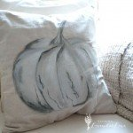 Painted Pumpkin Fall Pillow