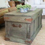 Trunk with Distressed Paint Finish