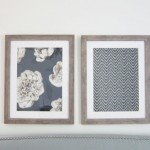 DIY Wall Art | This is a genius idea to frame large fabric samples to knock off expensive framed art from Pottery Barn!