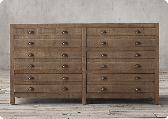 Printmaker's 6-Drawer Dresser