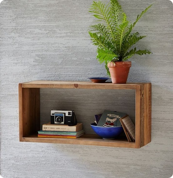 Reclaimed Pine Box Shelf