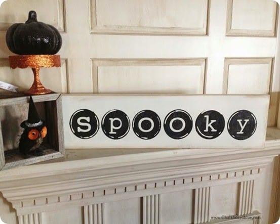 Spooky Typewriter Keys Sign for Halloween