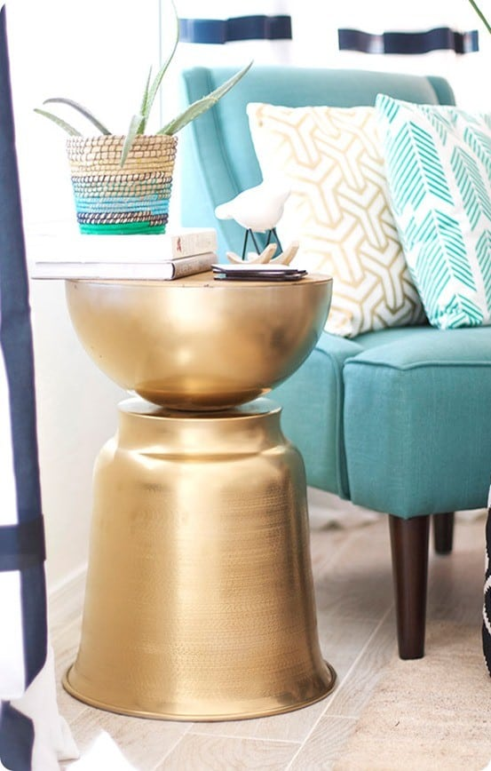 DIY Home Decor | West Elm Knock Off Side Table ~ Grab a few items from IKEA to knock off West Elm's bestselling Martini Side Table!
