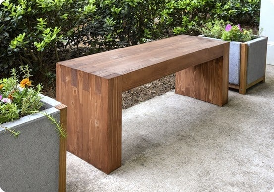 William-Sonoma Knock Off Outdoor Bench