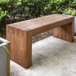 Modern Outdoor Bench for $35
