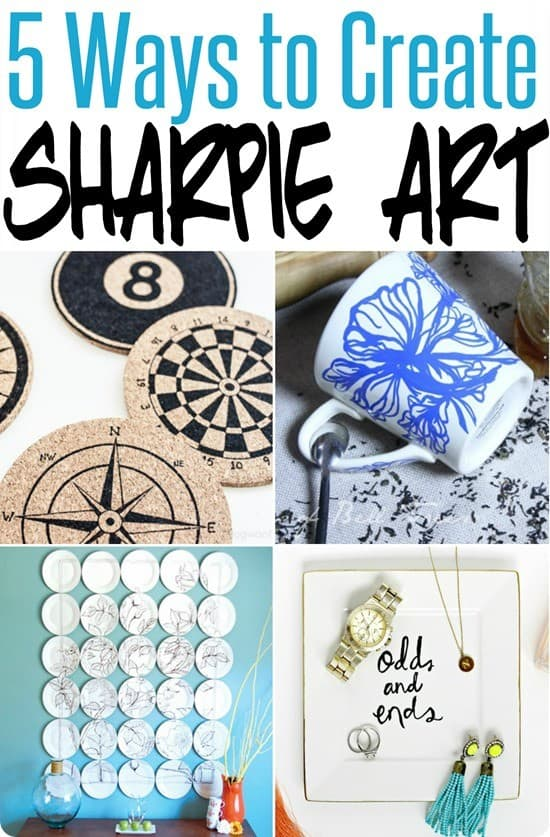 5 Ways to Create Sharpie Art ~ Check out these five DIY tutorials for making your Sharpie art!