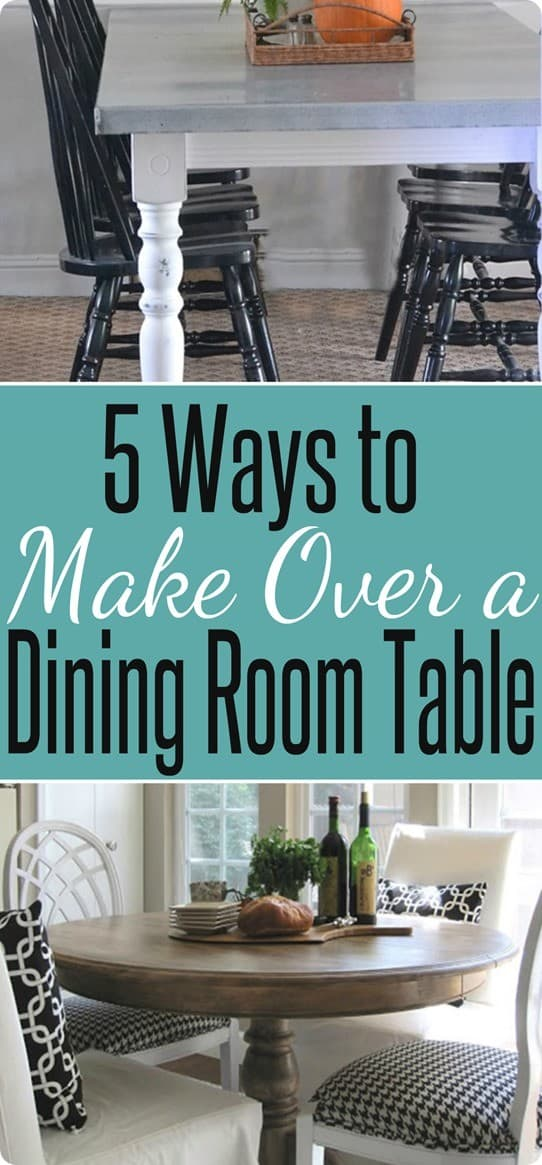 ten ways to make over a dining room table  knockoffdecor