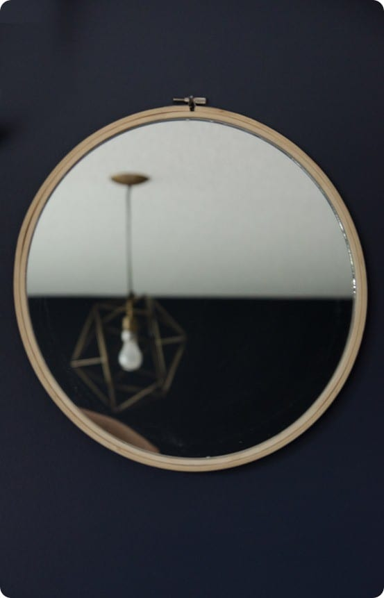 DIY Wall Decor | Make an Anthropologie Knock Off Mirror using an embroidery hoop!