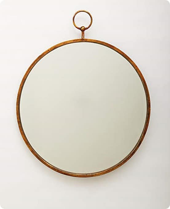 Anthropologie Simple Hoop Mirror
