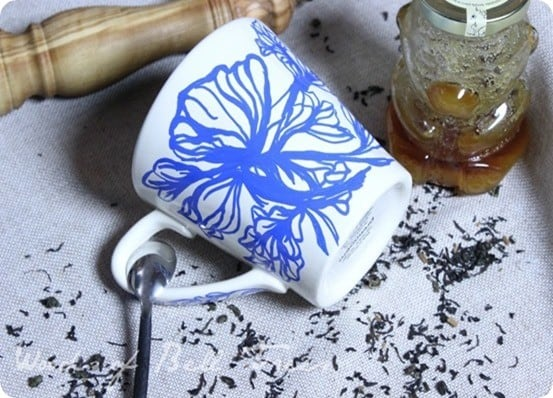 DIY Crafts ~ This Anthropologie knock off mug was made with an oil based Sharpie.