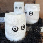 Mummy Luminaries from Salsa Jars