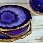 Gold Edge Agate Coasters