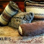 Cozy Fur-Trimmed Sweater Pillows