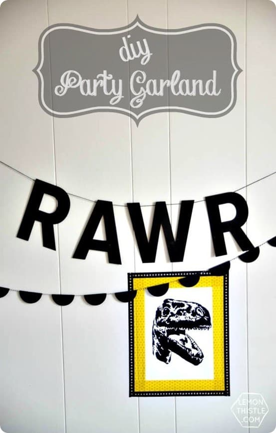 DIY Crafts | Scalloped Party Garland ~ Make this Land of Nod knock off garland in less than ten minutes. It's perfect for a party, holiday, or child's room!