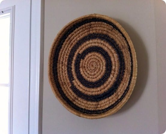 DIY Wall Decor ~ Turn a basket into West Elm inspired wall decor with a Sharpie!