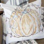 Painted Pumpkin Pillow Cover