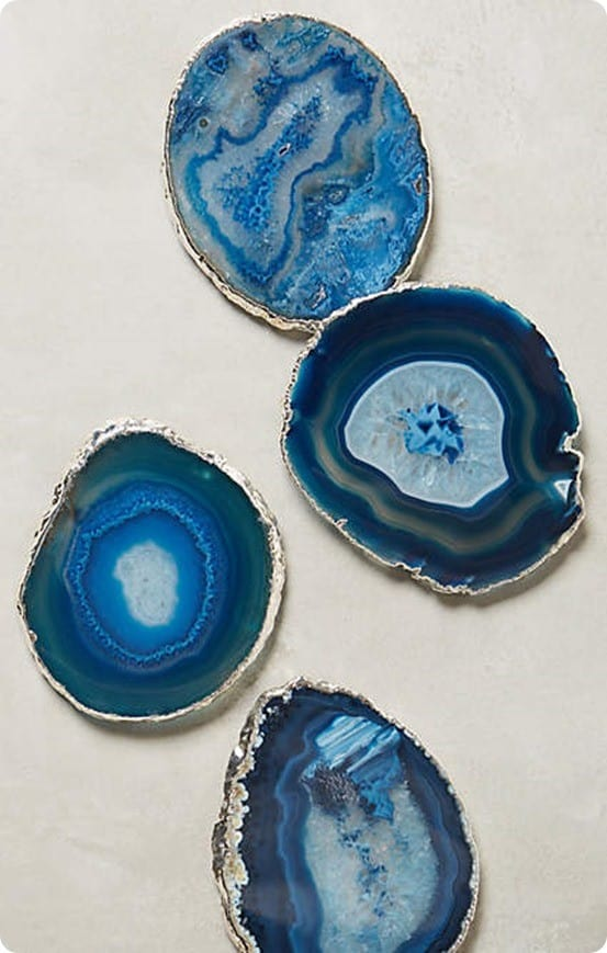 Gilded Edge Agate Coasters from Anthropologie