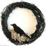 Super Simple Halloween Crow Wreath