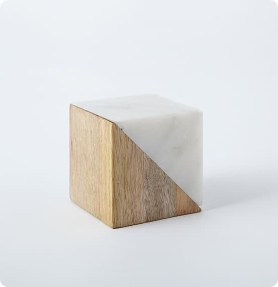 Marble and Wood Blocks from West Elm