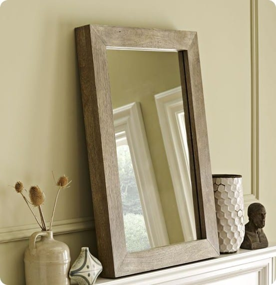 Parsons Wall Mirror in Natural Solid Wood from West Elm