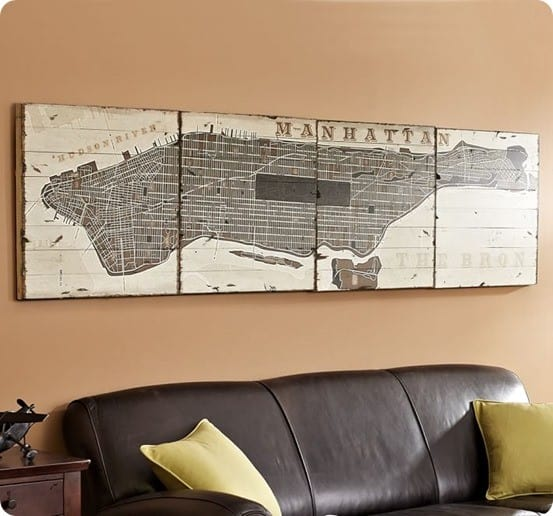 Planked Manhattan Sign from Pottery Barn