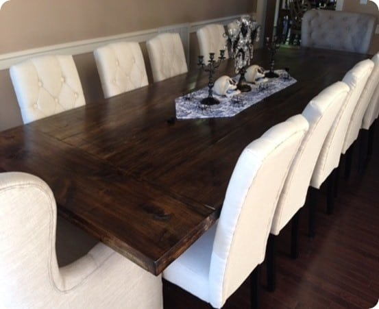 Planked Wood Dining Table